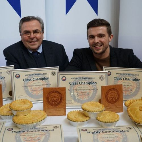 2016 BRITISH PIE CHAMPS... AGAIN In Melton Mowbray, Turner's were crowned champion in four separate award categories. Amongst hundreds of top quality entries, another four of their pies finished in the top 3 of their respective categories.